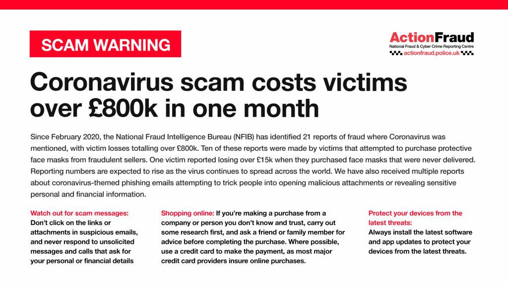 Coronavirus Fraud